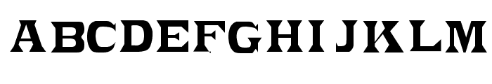 PonchoVia Regular Font LOWERCASE