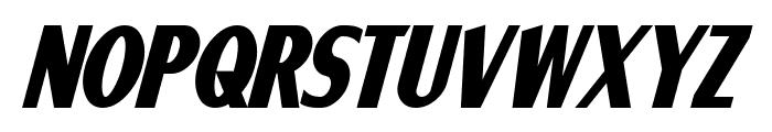 Ponsonby Bold Italic Font UPPERCASE