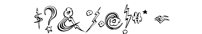 PonyRides Font OTHER CHARS