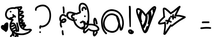 PoodleDoodles Font OTHER CHARS