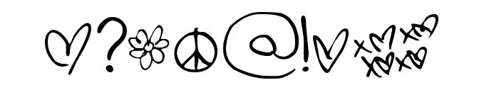 PopStar Autograph Font OTHER CHARS