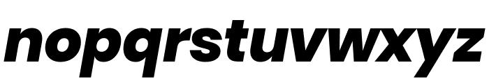 Poppins ExtraBold Italic Font LOWERCASE