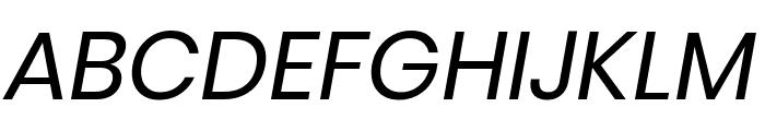 Poppins Italic Font UPPERCASE