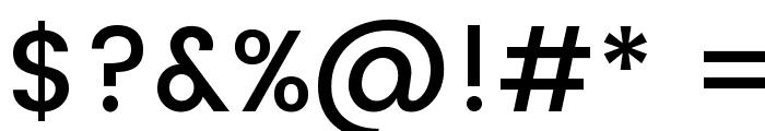 Poppins Medium Font OTHER CHARS