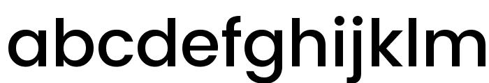Poppins Medium Font LOWERCASE