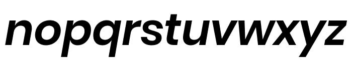 Poppins SemiBold Italic Font LOWERCASE