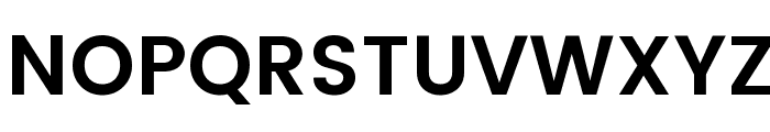 Poppins SemiBold Font UPPERCASE