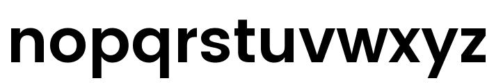 Poppins SemiBold Font LOWERCASE