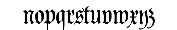 PopplFrakturCAT Font LOWERCASE