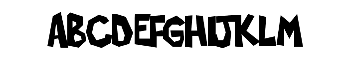 Poppycock Font UPPERCASE