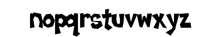 Poppycock Font LOWERCASE