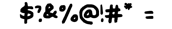 Poppy's Handwriting Font OTHER CHARS