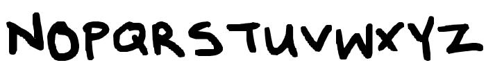 Poppy's Handwriting Font UPPERCASE
