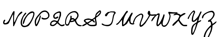 Popsies Font UPPERCASE