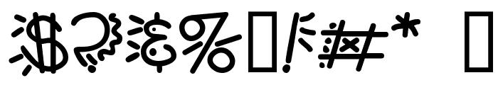 PopticsThree Font OTHER CHARS