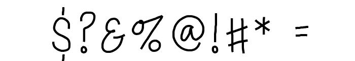 PorcelainPaperPie Font OTHER CHARS
