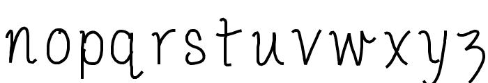 PorcelainPaperPie Font LOWERCASE