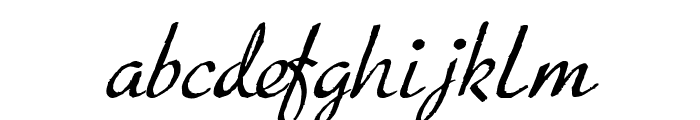 Porosa Font LOWERCASE