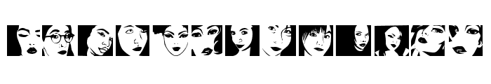 Portraits de Femmes Regular Font LOWERCASE
