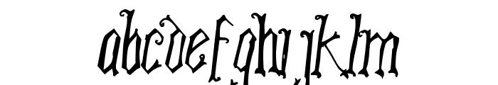 Posche Font LOWERCASE