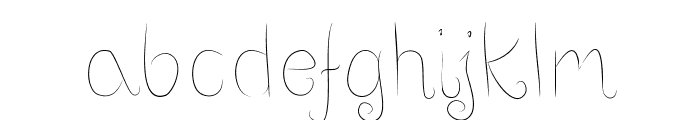 Positive-thinking Font LOWERCASE