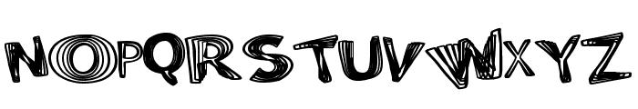 PositiveWarp Font UPPERCASE