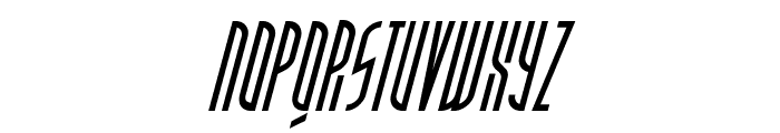 PostModernOblique Font UPPERCASE