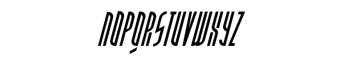 PostModernOblique Font LOWERCASE