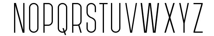 PostScriptum Light Font UPPERCASE