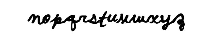 PosterScriptB Font LOWERCASE