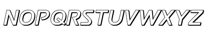 Postmaster 3D Font LOWERCASE