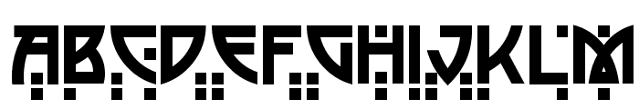 Postmodern Two Font UPPERCASE