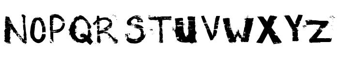 Potato Press Font UPPERCASE