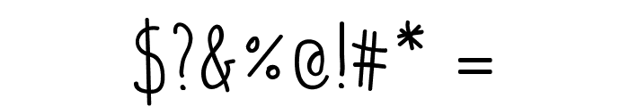 PotatoesAndPeasRegular Font OTHER CHARS