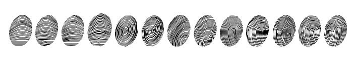 Powderfinger Pad Font UPPERCASE