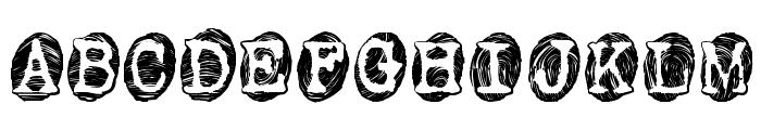 Powderfinger Smudged Font UPPERCASE