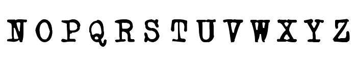 Powderfinger Type Font UPPERCASE
