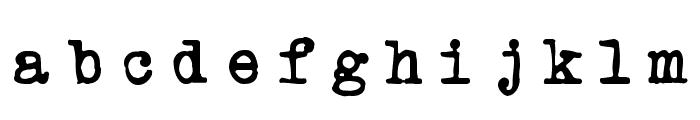 Powderfinger Type Font LOWERCASE
