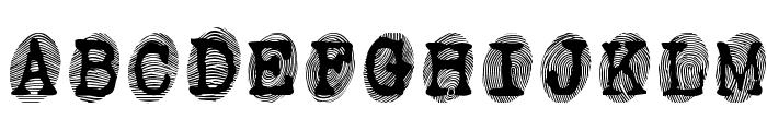 Powderfinger Font UPPERCASE