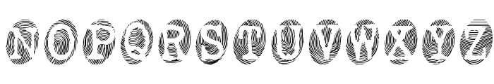 Powderfinger Font LOWERCASE