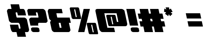 Power Lord Leftalic Font OTHER CHARS
