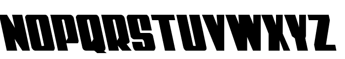 Power Lord Leftalic Font UPPERCASE