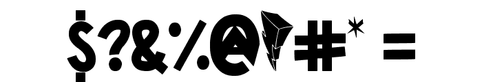 Power Rangers Font OTHER CHARS