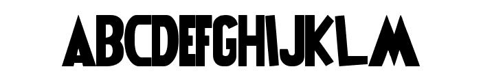 Power Rangers Font UPPERCASE