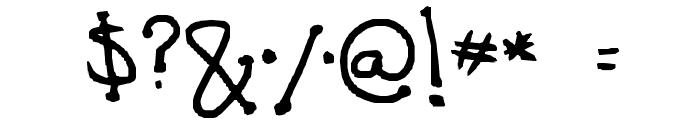 polka dot Font OTHER CHARS