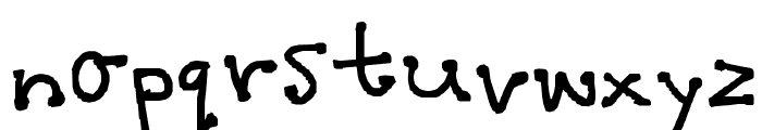 polka dot Font LOWERCASE