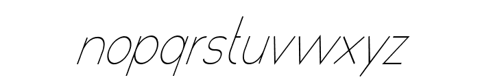 poor weekdays Italic Font LOWERCASE