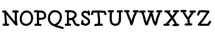 postage Font UPPERCASE