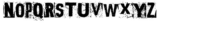 Polish Dirty News Regular Font UPPERCASE