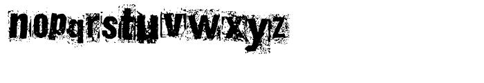 Polish Dirty News Regular Font LOWERCASE